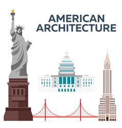 american architecture modern flat design vector image
