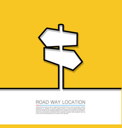 direction arrow sign abstract background vector image