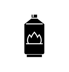 gas icon black sign on vector image vector image