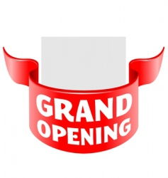 grand opening ribbon vector image vector image