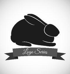 Rabbit logo design vector image
