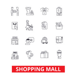 shopping mall online payment retail sales vector image vector image
