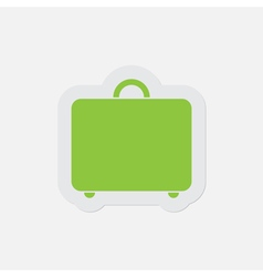 simple green icon - suitcase vector image vector image