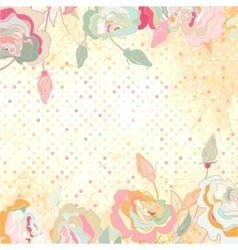 Vintage dots Rose Floral Background vector image vector image