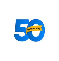 50 year anniversary celebration template design vector