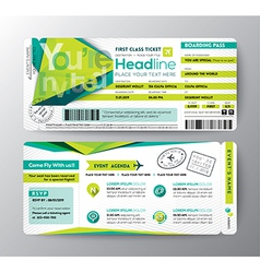 Abstract Polygon Boarding Pass Event Ticket card vector