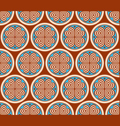 abstract seamless pattern with geometric ornament vector image