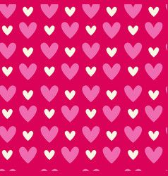 abstract seamless pattern with heart shapes on vector image