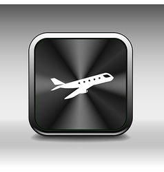 Airplane Plane symbol Travel icon Flight flat labe vector image