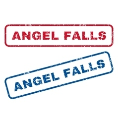 Angel Falls Rubber Stamps vector image