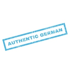 Authentic German Rubber Stamp vector image