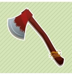 axe icon design vector image