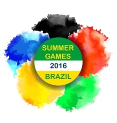 Brazil Summer 2016 Water Color Background vector