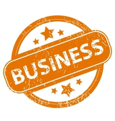 Business grunge icon vector image
