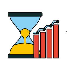 Business hourglass chart vector
