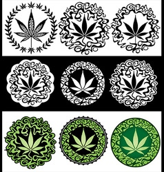 Cannabis Marijuana leaf texture background vector