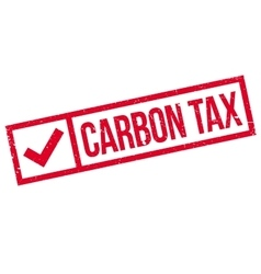 Carbon tax rubber stamp vector