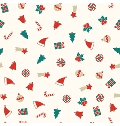 Christmas symbols seamless background xmas vector