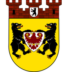 Coat of arms of mitte in berlin germany vector