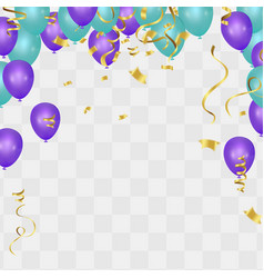 color flying balloons isolated on background vector image