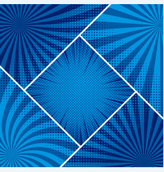 comic blue elegant concept vector image