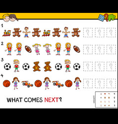 Complete pattern educational game for kids vector