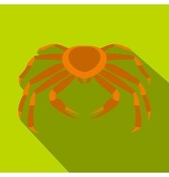 Crab sea animal icon flat style vector