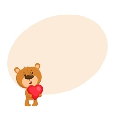 Cute traditional retro style teddy bear character vector