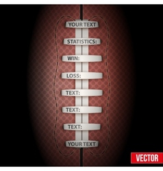 Dark Background of American Football ball vector image
