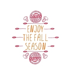 Enjoy the Fall Season - typographic element vector image