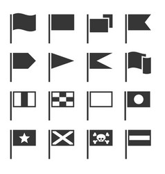 flag icons set vector image