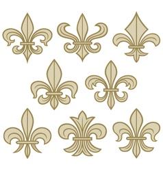 Fleur de lis symbols vector