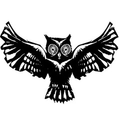 Flying owl vector