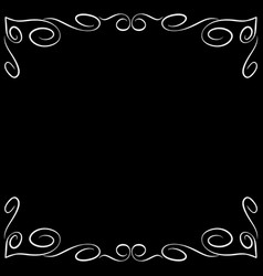 frame white 6 2310 vector image