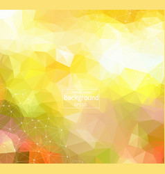 geometric green light polygonal background vector image