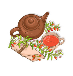goji tea vector image
