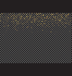 gold falling glitter particles effect on vector image