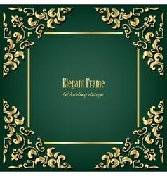 Golden square frame vector