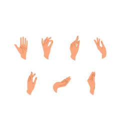 hands set in simple flat trendy style vector image