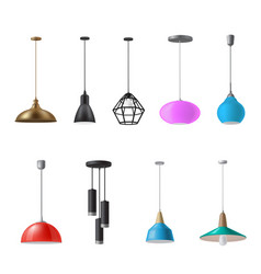 hanging lamp ceiling light decorative electrical vector image