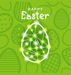 happy easter greeting card background with vector image