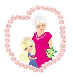 Happy Grandmas Day vector