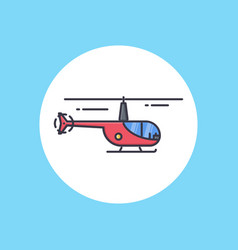 helicopter icon sign symbol vector image