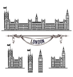 Icon westminster palace vector