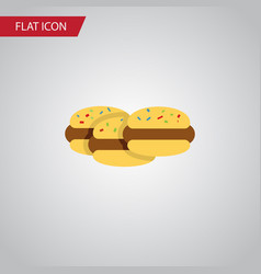 Isolated cookies flat icon biscuit element vector