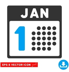 January First Eps Icon vector image