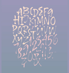 letters of the alphabet written with dry brush vector image