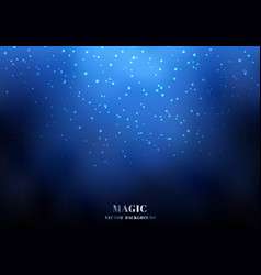 magic night blue sky background with sparkling vector image