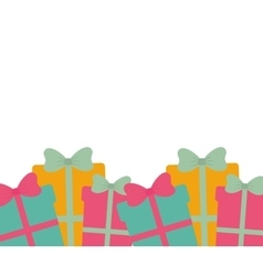 many gift boxes with bow seamless vector image