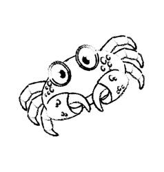 Marine crab cartoon vector